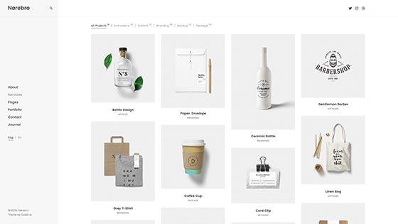 Simple Portfolio ― Left Menu