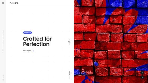 Fullscreen Portfolio ― Split Screen