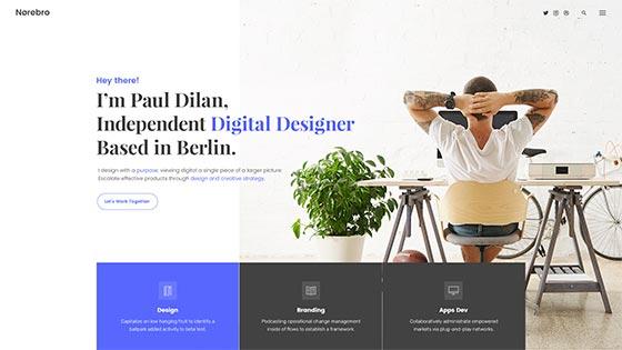 Designer Personal ― Fullscreen Hero