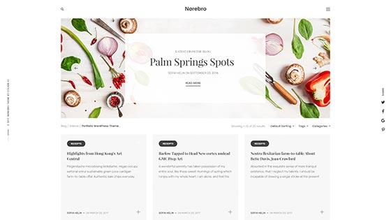 Food Blog ― Overlay Cards