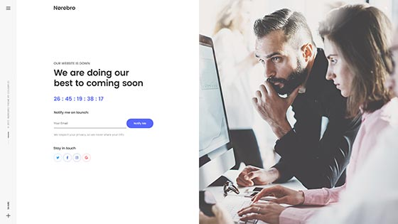 Coming Soon ― Split Page