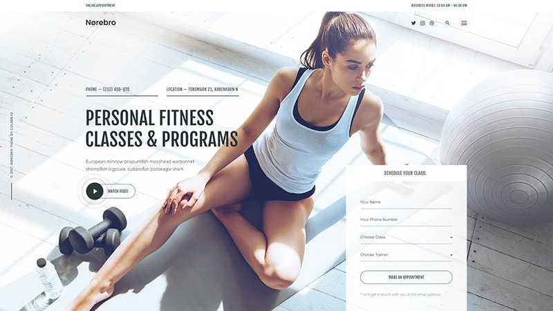 Sports & Fitness ― Fullscreen Hero