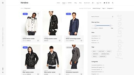 Shop ― Right Sidebar