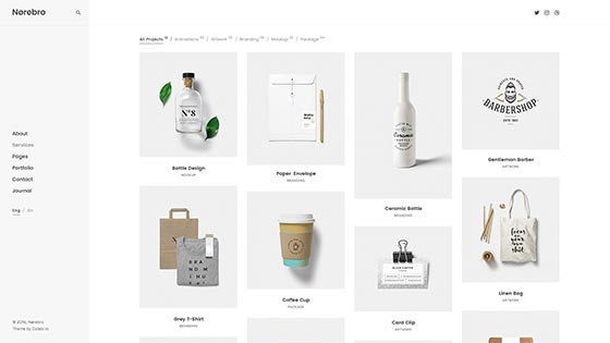 Simple Portfolio ― Left Menu