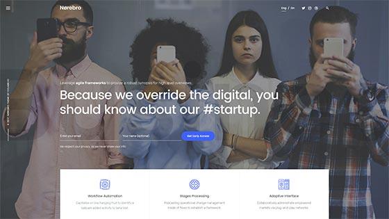 Startup & App ― Fullscreen Hero