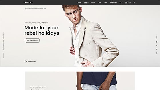 Clothing Shop ― Fullwidth Slider
