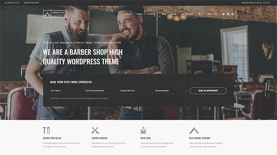 Barber Sallon ― Fullscreen Hero