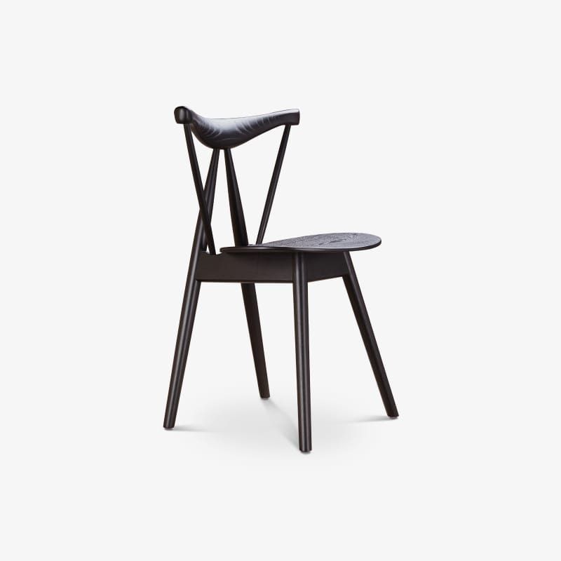 Dining chair with backrest