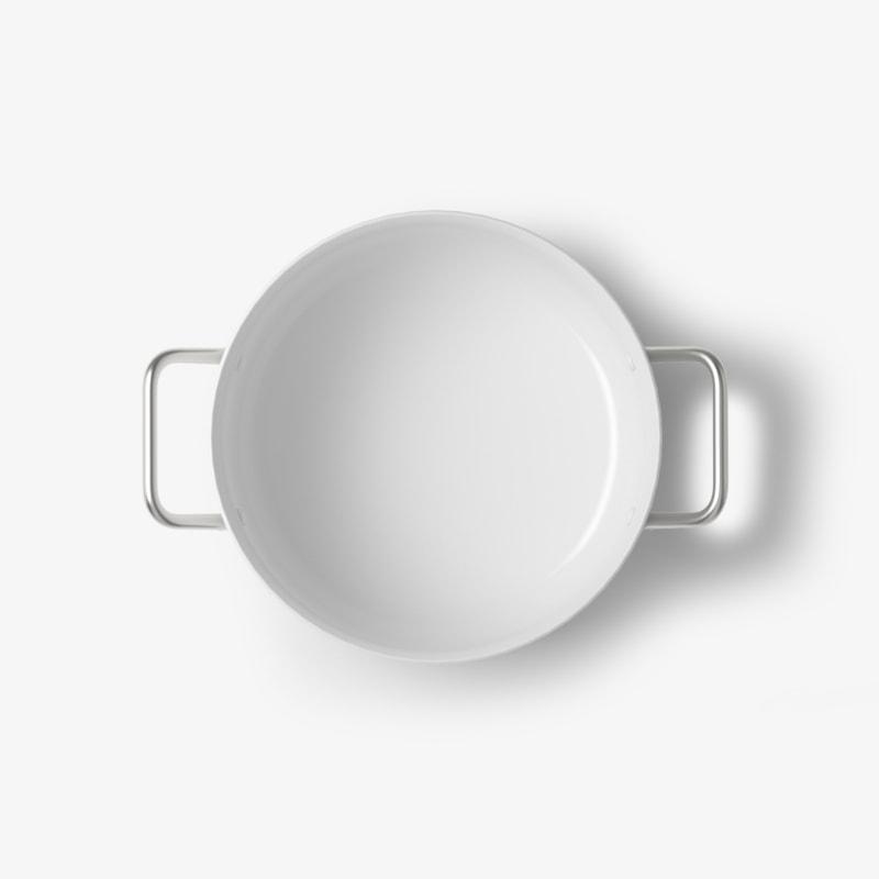 White circle pot