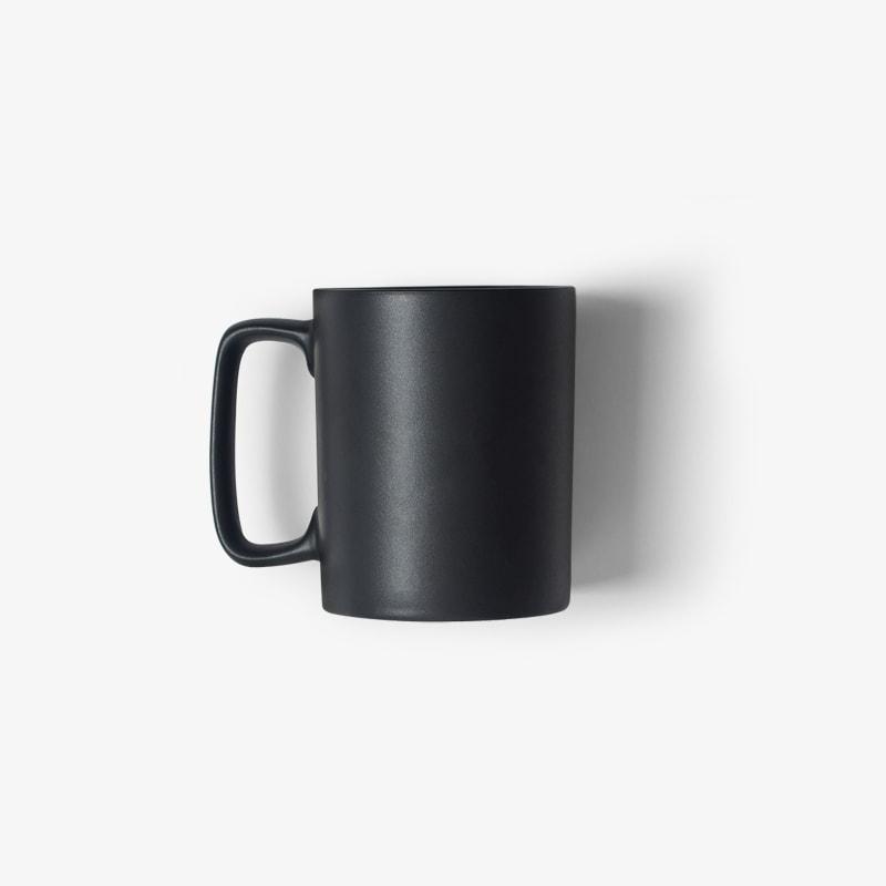 Black porcelain mug