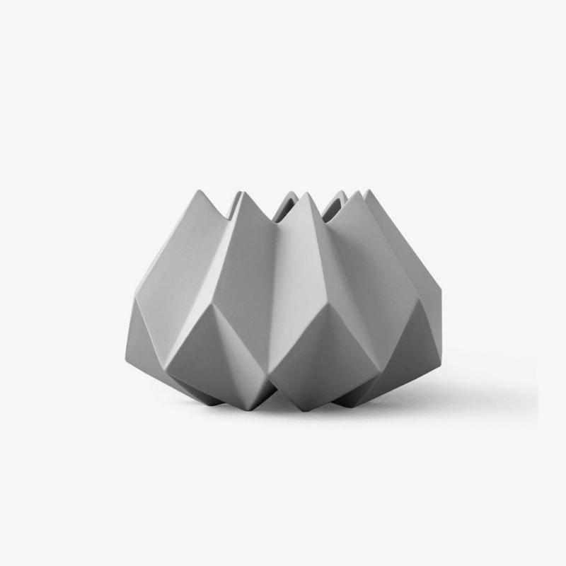 Folded decor vase